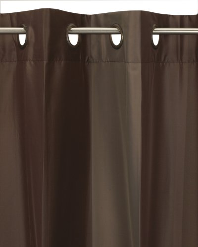 Umbra Concerto 50-Inch-by-84-Inch Taffeta Drapery Panel with Grommet Top, Chocolate