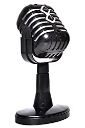 Sunshine Play Microphone Toy, Battery Operated, Grey Black