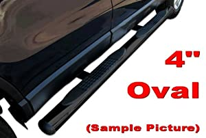 "10-12 Ram 2500/3500/09-12 Ram 1500 Crew Cab Black 4"" Straight Side Step Nerf Bars Running Boards(2pcs with Mounting Bracket Kit) by MaxMate"