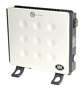 Prem-I-Air Low Energy 400 Watt Free Standing Or Wall Mounted Panel Convector Heater With Adjustable Thermostat