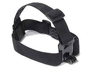 Support Sangle élastique tête pour Gopro Hero 1 & 2 & 3 & 3+ (Fixation frontale Gopro & fixation tête Gopro réglable)