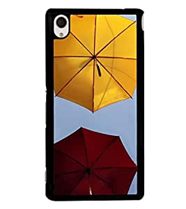 Colourful Umbrellas 2D Hard Polycarbonate Designer Back Case Cover for Sony Xperia M4 Aqua :: Sony Xperia M4 Aqua Dual