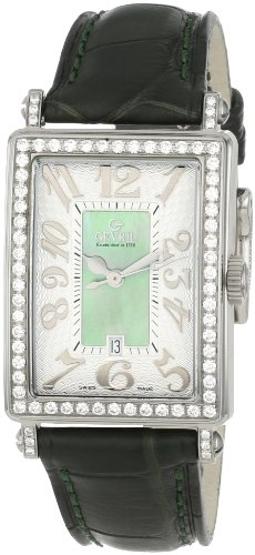 Gevril Women's 7246NL Mini Quartz Avenue of Americas Green Diamond Watch