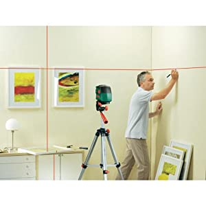bosch pcl 10 cross line laser level with tripod set. Black Bedroom Furniture Sets. Home Design Ideas