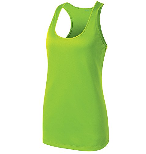 Opna Racerback Tank Tops for Women Moisture Wicking Workout Shirt Sizes XS-4XL LIME-L (Tank Tops Running compare prices)