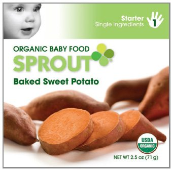 Sprout Organic Baby Food, Baked Sweet Potato, Stage 1, 2.5-Ounce Pouches (Pack of 12)