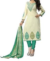 Look Smart Women's Polycoton Unstitched Dress Material (DEEPA RAMA_Rama_Free Size)