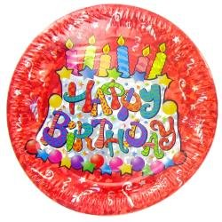 Celebrate Hologram Happy Birthday Birthday Cake With Candles - 12 Count