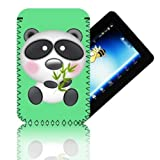 Biz-E-Bee Exclusive 'PANDA 7' Green ARCHOS 70 (70b) INTERNET (ARNOVA 7, 7B, 7F, G2 & G3) Shock Shock Resistant 7 Inch Neoprene Tablet Case, Cover, Pouch