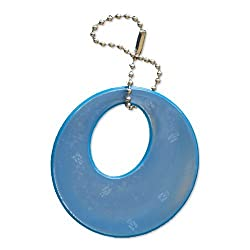 funflector Safety Reflector - Basic Shapes - Stylish Reflective Gear for Jackets Bags Purses Backpacks Strollers and Wheechairs Circles - Turquoise