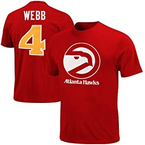 Majestic Spud Webb Atlanta Hawks Player Name and Number T-Shirt - Red by Majestic