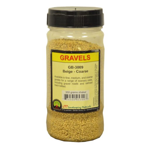 JTT Scenery Products Ballast and Gravel, Beige, Coarse