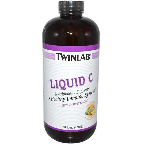 Twinlab, Liquid C 300Mg W/Calcium Ascorbate, 16 Oz