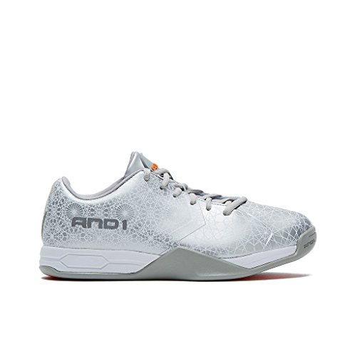 AND1 Mens Mirage Basketball Shoe 12 Silver