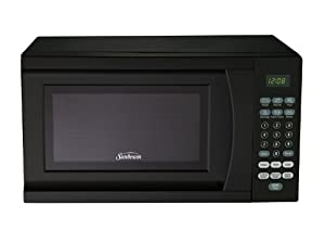 Sunbeam SGS90701B-B 0.7-Cubic Foot Microwave Oven, Black by Galanz