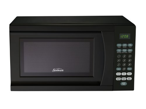 Find Bargain Sunbeam SGS90701B-B 0.7-Cubic Foot Microwave Oven, Black