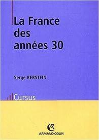 La France des années 30 par Serge Berstein