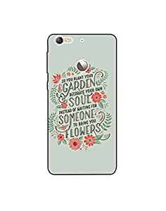 Le Eco ht003 (79) Mobile Case from Mott2 - Garden Soul Someone Flowers - Quote (Limited Time Offers,Please Check the Details Below)