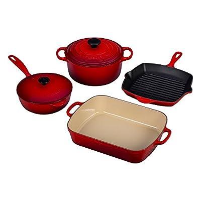 Le Creuset Signature Cast Iron Cookware Set