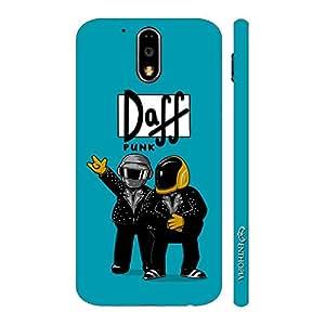 Enthopia Designer Hardshell Case Daff Punk Blue Back Cover for Motorola G4 Play