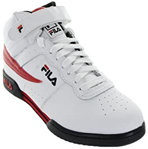 Fila 1VF059LX Men F-13V LEA/SYN Vintage Fitness Shoes WHT/BLK/CHRED Size 14