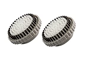 Sonimart compatible replacement body brush heads (2-pack), designed for SMART Profile, PLUS, and PRO Cleansing Systems