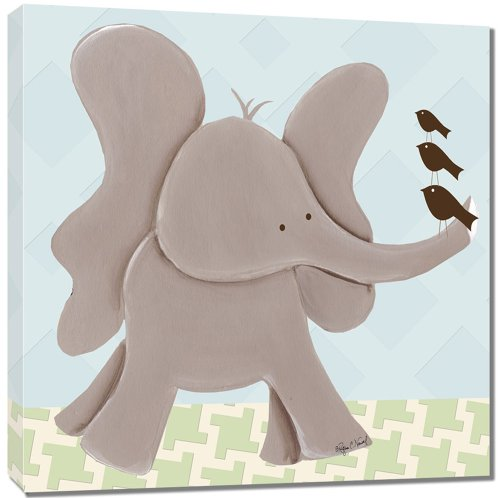 "Doodlefish Gallery-Wrapped 18""x18"" Wall Art, Ellis Elephant"