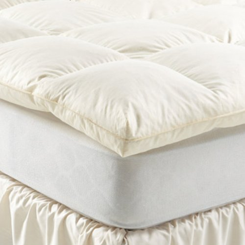 Twin & Full - White Goose Baffle Box Feather Bed Sale Bed Size: Twin