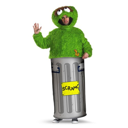 Oscar the Grouch Sesame Street Licensed Adult Costume 50070