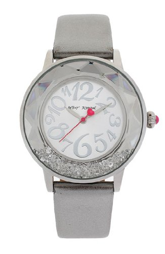 Betsey Johnson Women's BJ00159-01 Silver Band Watch