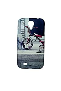 ZAZZLE Premium High Quality Rubberized Protective Printed Case Cover for Samsung Galaxy S4 Vintage for Cycle lover (Print)