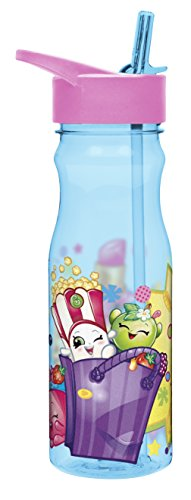 Zak! Designs Tritan Water Bottle with Flip-up Spout and Straw featuring Shopkins Graphics, Break-resistant and BPA-free Plastic, 25 oz. (Flips Corn compare prices)