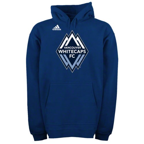 Vancouver Whitecaps Navy adidas Team Logo Fleece Hooded Sweatshirt