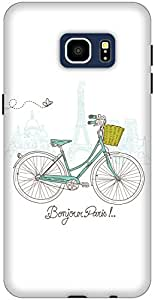 The Racoon Lean printed designer hard back mobile phone case cover for Samsung Galaxy S6 Edge+. (White Bonj)