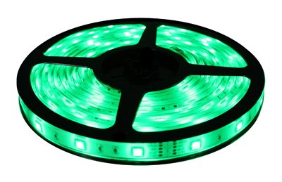 Brilliant Brand Lighting Seasonal Decoration Green Brilliant Brandled Strip Light Smd-5050 12-Volt 16.4' Spool Waterproof Ip67
