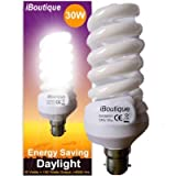 iBoutique® 30W Bayonet B22 Daylight Energy Saving Light Bulb Equivalent Output 150 Watts Full Spectrum Great For SAD Sufferers Snooker Pool Hobbies Crafts Photography