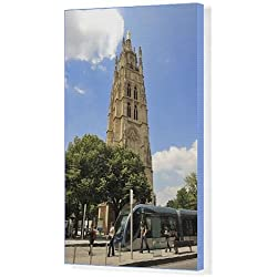 Canvas Print of Tour Pey-Berland, a 16th century Bell Tower, Bordeaux, UNESCO World Heritage