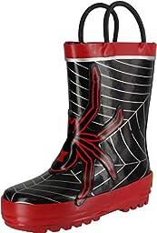 Western Chief Spider Web Rain Boot (Toddler/Little Kid/Big Kid),Red,7 M US Toddler
