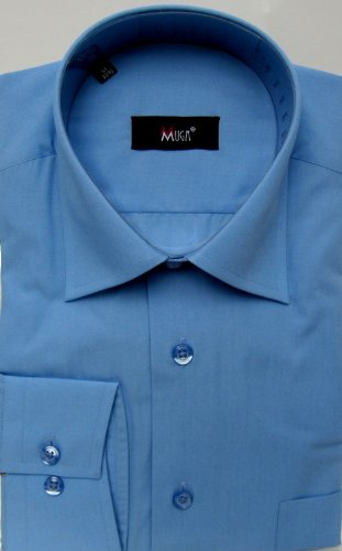 MUGA mens shirts for Casual and Formal, Dark Blue, Size S