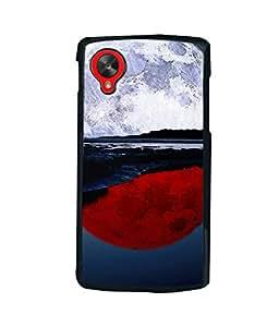 printtech Red White Moon Water Back Case Cover for LG Google Nexus 5::LG Google Nexus 5 (2014 1st Gen)