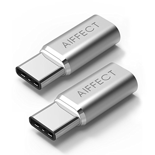 AIFFECT USB Type C Adapter 2 Pack USB C to Micro USB Adapter for MacBook 12