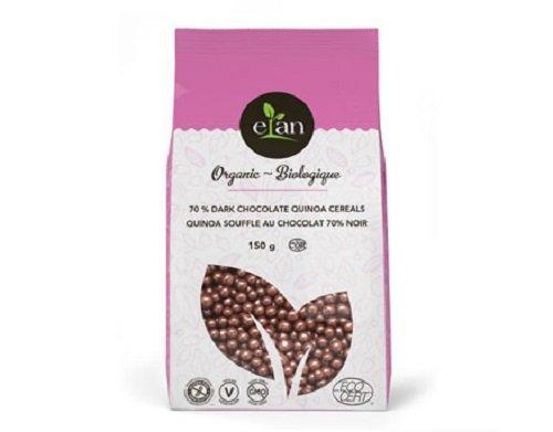 ELAN Organic 70-Percent Dark Chocolate Quinoa Pops, 0.15Kg