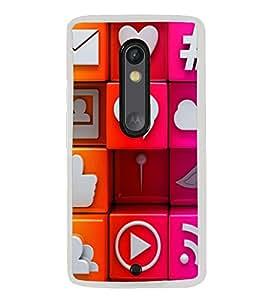 Colourful Internet Signs 2D Hard Polycarbonate Designer Back Case Cover for Motorola Moto X Play