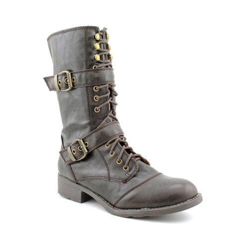 G By Guess Women'S Better Motorcycle Boots In Dark Brown Size 6.5