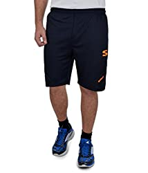 Surly Men's Navy Blue Orange Polyester Short