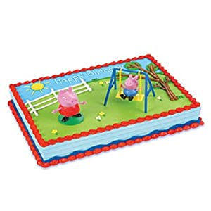 Amazon.com : Bakery Crafts - Peppa Pig Cake Kit, 1cake topper with 2