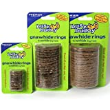 Gnawhide Ring Treats-L-NATURAL