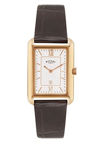 rotary-mens-quartz-watch-with-beige-dial-analogue-display-and-brown-leather-strap