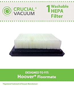 Crucial Vacuum Hoover Floormate Filter; Washable & Reusable; Compare to Part # 40112050, 59177051; Designed & Engineered by Crucial Vacuum