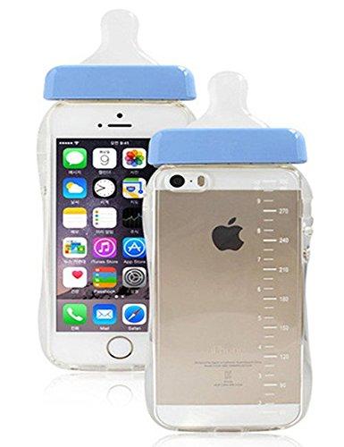 RoomClip商品情報 - iphone5/5s iphone6 iphone6plus対応 哺乳瓶 型 携帯ケース スマホケース ミルク 型 シリカゲル シンプル かわいい (iphone6, ブルー)